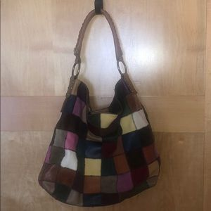 Lucky Brand Patchwork Hobo Bag